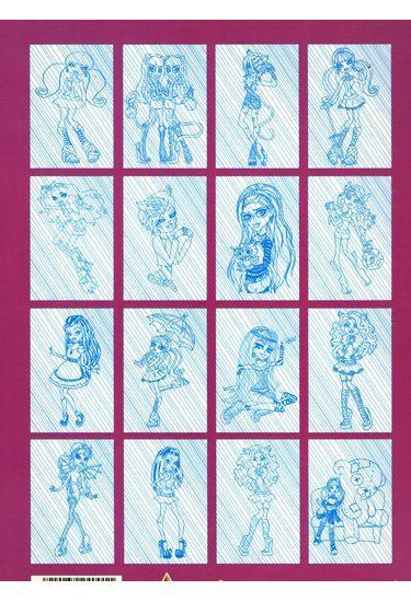 Раскраска-невидимка Monster High.