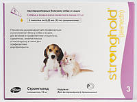 Стронгхолд (Stronghold) - капли от блох и клещей для щенков и котят до 2,5 кг - 1 пипетка 15 мг (0,25 мл)