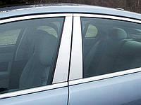 Хром накладка дверных стоек Jaguar XF 2009-2013