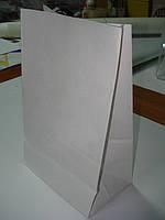 Пакет бумага крафт белый 90 г/м2 под нанесение логотипа