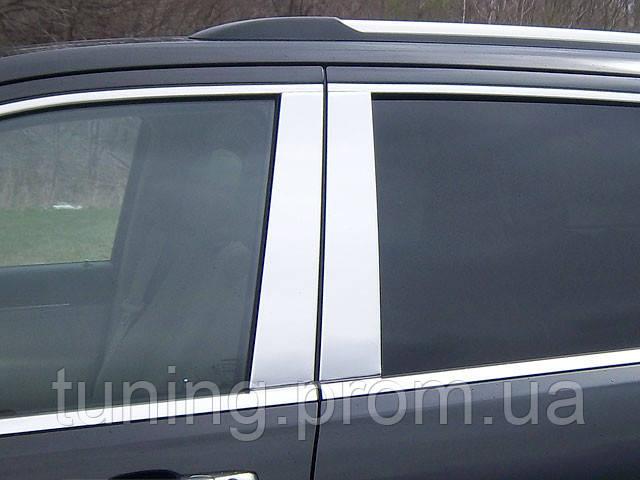 Хром накладка дверных стоек Jeep Grand Cherokee 2011-2013
