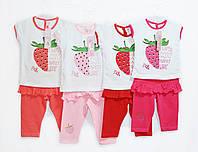 Костюм детский на лето для девочки. Рост 92, 98, 104. Pink 857, фото 1