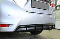 Накладка заднего бампера (диффузор) Toyota Corolla (2013-)