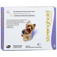 Капли Стронгхолд (Stronghold) для собак 2,6-5 кг от блох, клещей и глистов 1 пипетка 30 мг (0,25 мл)