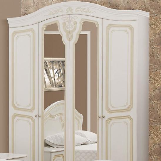 """Спальня , спальный гарнитур """"Луиза""""  шкаф 4д (золотая патина)"""