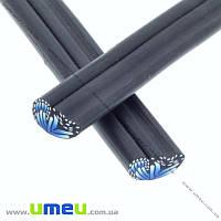 Палочка FIMO Крыло бабочки синее, 50 мм, 1 шт (DIF-015539)