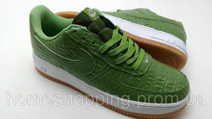 Мужские кроссовки Nike air force 1 Low 07LV8 зеленые