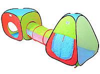 """Детская двойная палатка с тоннелем """"3 в 1 плюс"""" 999-53"""