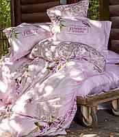 Комплект постельного белья евро KARACA HOME сатин  WISTERIA розовый