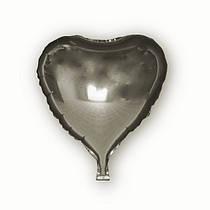 Фольгированный шар Josef Otten сердце 45х45см серебряное