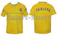 Футболка футболиста Украина (желтый 2)