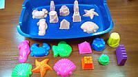 Кинетический песок купить Набор 1кг формочки 12 шт песочница