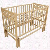 Детская кроватка Калачик плюс, шарнир-подшипник, бук, откидная боковина
