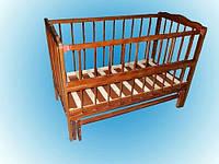 Детская кроватка Ангелочек2, шарнир-подшипник, бук, откидная боковина
