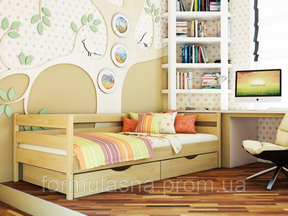 Кровать подростковая буковая Нота Эстелла 80х190, 102, без ящиков