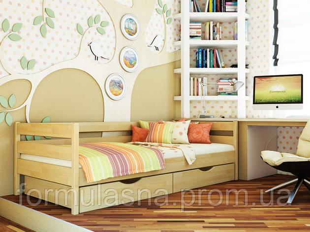 Кровать подростковая буковая Нота Эстелла 80х190, 102, без ящиков, фото 2