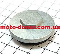 Гайка (заглушка) головки цилиндра где клапан, метал для мопеда DELTA