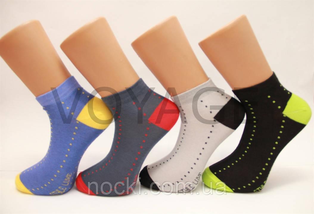 Мужские носки короткие с хлопка классика КЛ