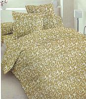 Простынь Оливковый орнамент, бязь (двуспальная, евро)