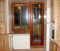 Окна из трехслойного бруса сосны купить у производителя.