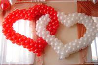 Свадебное оформление воздушными шарами Днепропетровск