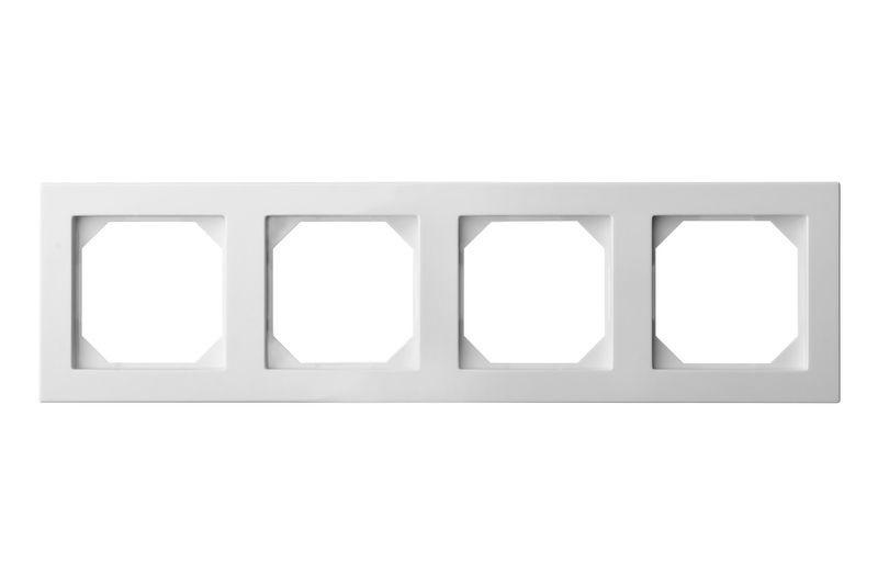 Рамка 4 постовая, белый цвет, Epsilon