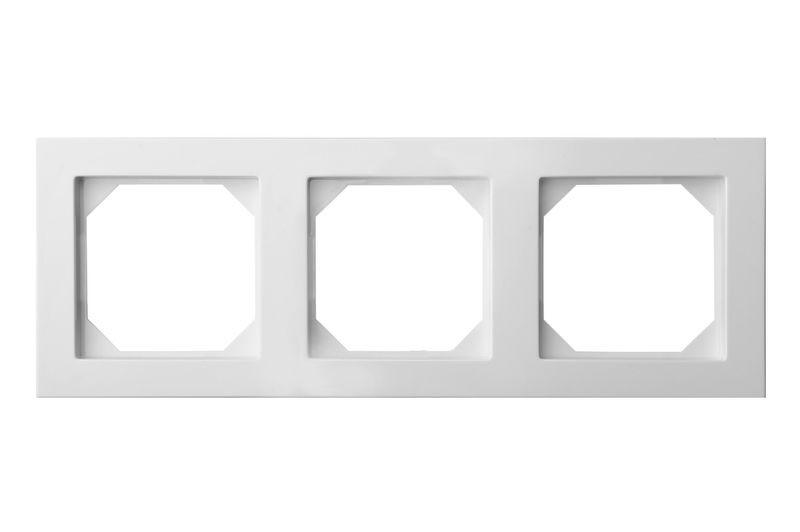Рамка 3 постова, білий колір, Epsilon