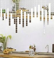 Акриловые зеркальные наклейки мозаика для декора