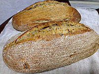 Хлеб с луком и сморчками на сливочном масле !
