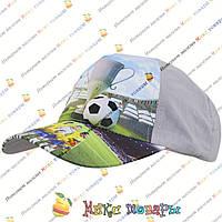 Спортивные бейсболки футбольной тематики для мальчиков (объём 54- 55 см) (vti086)
