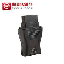 Висока якість діагностичного інтерфейсу USB 14 контактний. сканер для Нісан.
