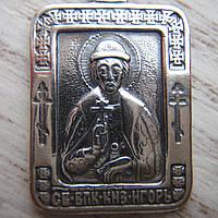 Серебряная подвеска-ладанка Святой князь Игорь