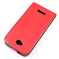 Чехол-флип для HTC Desire 616 Красный Mobiking
