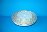 Лента атласная 0,5 см с люрексом №01