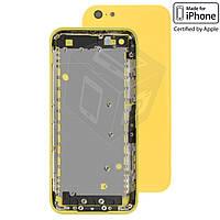 Корпус для Apple iPhone 5C, желтый, оригинальный