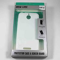 Чехол-крышка для HTC Desire 510 Белый New Line + плёнка