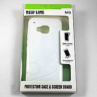Чехол-крышка для HTC One M9 Белый New Line + плёнка