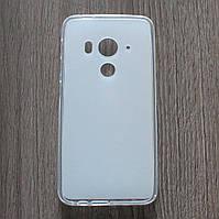 Чехол-крышка для HTC Butterfly 3 Белый/Прозрачный Silicon