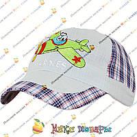 Летние кепки для малышей с самолётиком (объём 48- 50 см) (vti091)