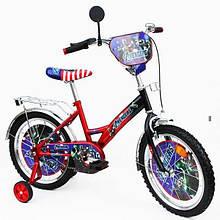 Велосипед Герої 18 червоний з чорним