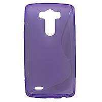 Чехол-крышка для LG G3 D855 / D856 Фиолетовый Silicon