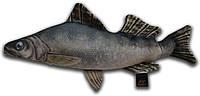 Игрушка антистрессовая 3K Fish Судак малый 47х30см