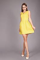 Оригинальный сарафан лимонного цвета, фото 1