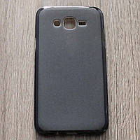 Чехол-крышка для Samsung Galaxy J7 J700H Чёрный Silicon