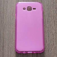 Чехол-крышка для Samsung Galaxy J7 J700H Розовый Silicon