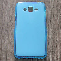 Чехол-крышка для Samsung Galaxy J7 J700H Голубой Silicon