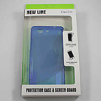Чехол-крышка для Sony Xperia Z3 Compact D5833 Синий New Line + плёнка