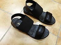 Женские кожаные черные босоножки Rendi. Укриана