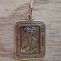Серебряная подвеска-ладанка Святой князь Вячеслав