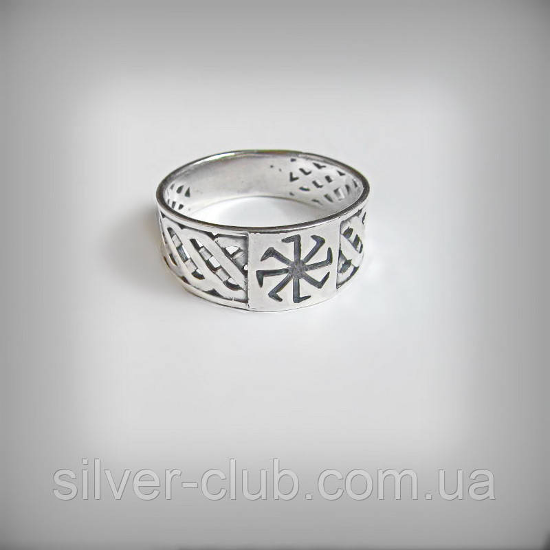 12da2f8542d3 1047 Мужское серебряное кольцо Коловрат славянский символ -  Интернет-магазин серебряных изделий от украинского производителя